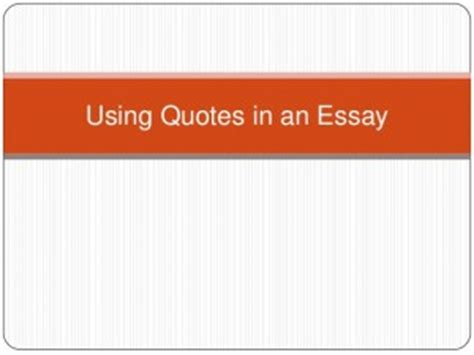 Using Quotations Writing Advice